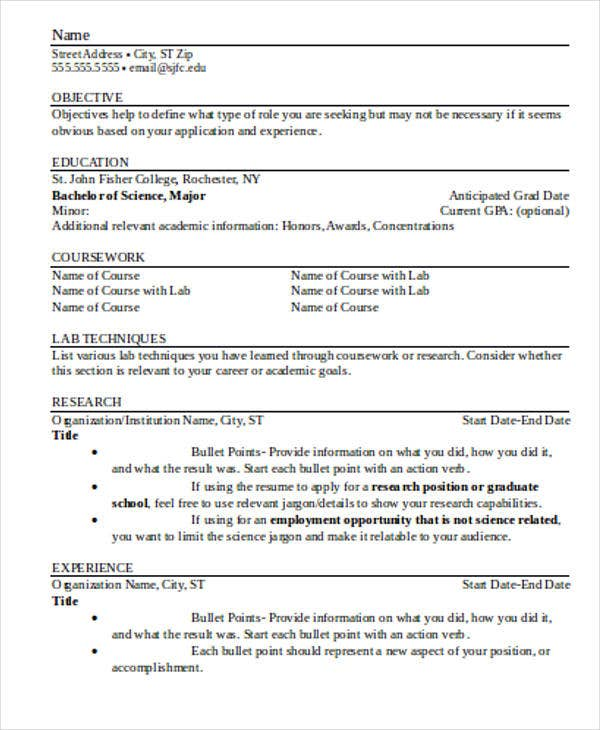 Resume Format Word Document | Resume Format And Resume Maker