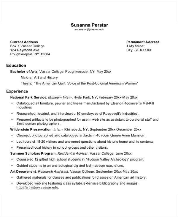free job resume template