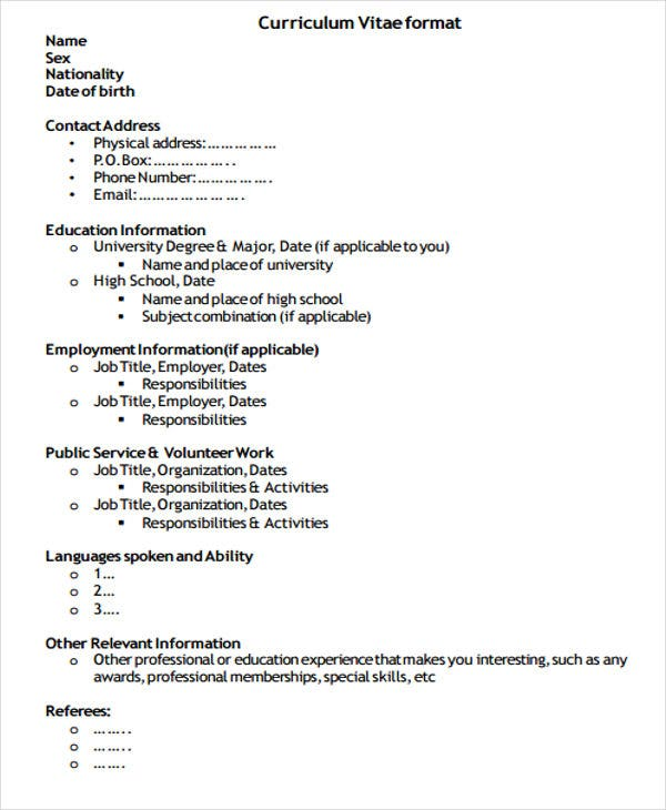 Resume And Cv Format  Resume Format And Resume Maker