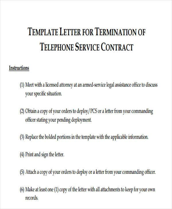 Termination Letter Format Templates – Agreement Termination Letter Format