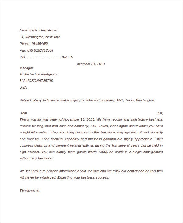 52 sample business letters free premium templates business enquiry reply letter spiritdancerdesigns Choice Image