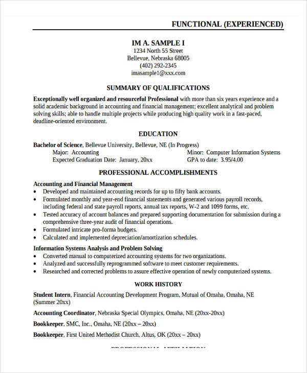 Work Resume Example | Resume Format Download Pdf