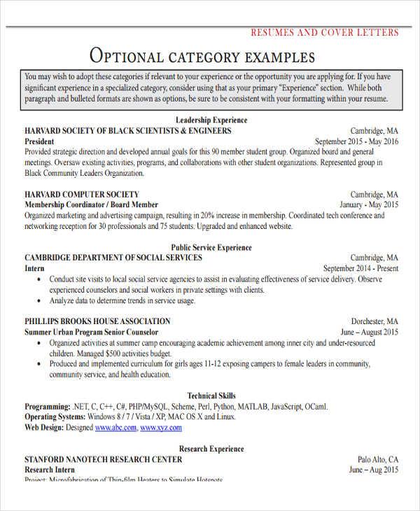 cover letter example ocs fas harvard edu 30 resume examples free premium templates - Resume Cover Letter Harvard