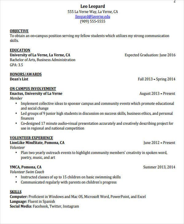 Free Resume Template For Mac Pdf  Resume Formats  Free  Premium Templates Waitress Resume Job Description Excel with Professional Resume Pdf Student Job Resume Education In Resume