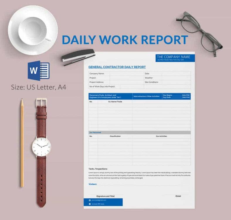 What Are General Report Templates Black Red And White Geometric – Daily Report Template Word