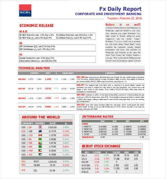 Daily Report Pdf Printable Editable Blank Calendar 2017 – Daily Report Template Word