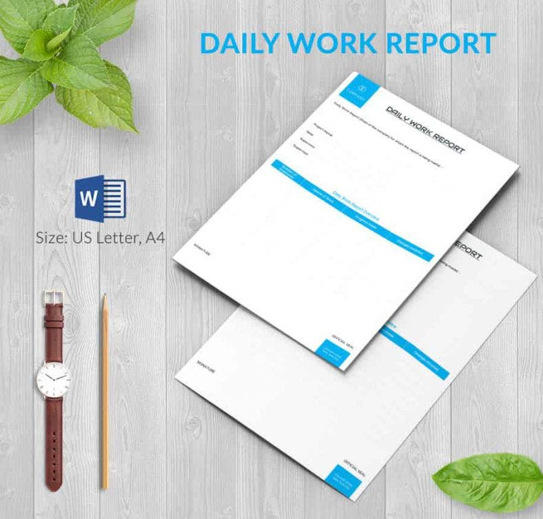 Daily Report Template 57 Free Word Excel PDF Documents