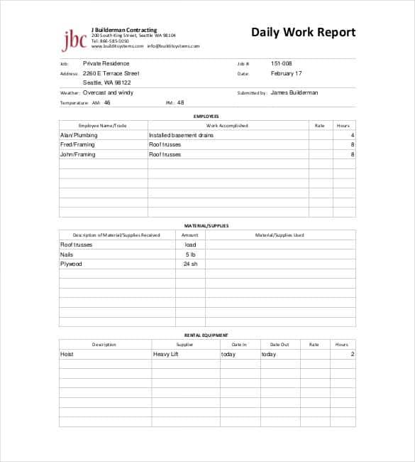 64+ Daily Report Templates - PDF, Docs, Excel | Free & Premium Templates