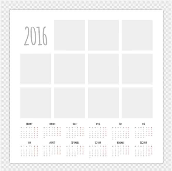calendar photo collage template download min