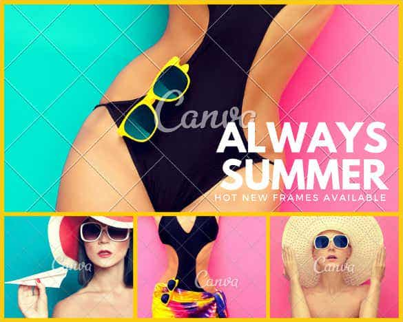 editable fashionable eyewear photo collage template min