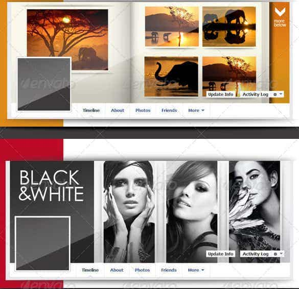 facebook cover photo collage template psd format