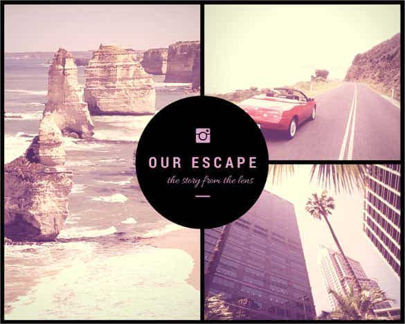 free daring escapes photo collage template - Free Collage Templates