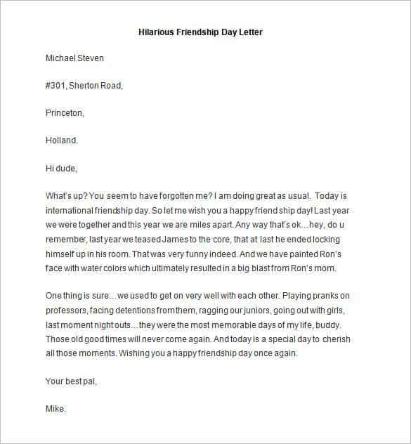 49 friendly letter templates pdf doc free premium templates sample hilarious friendship day letter thecheapjerseys Image collections