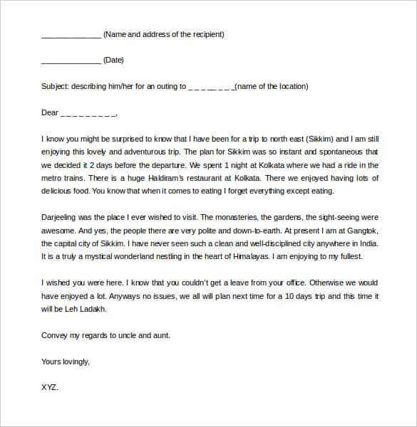 Letter To Friend Format In India
