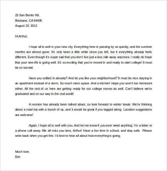 Friendly Letter Templates 49 Free Sample Example Format – Friendly Letter Format Template