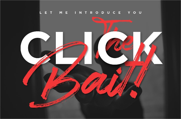 click bait logo font1