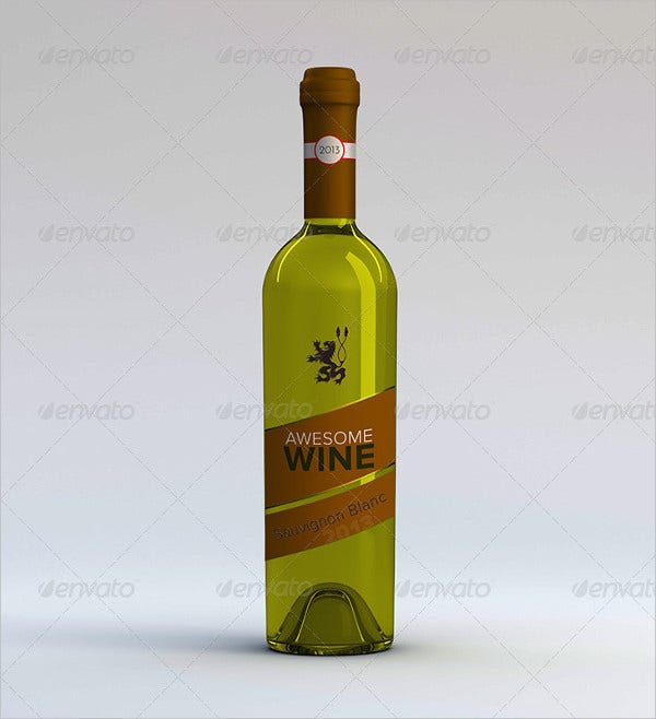embossed wine bottle label