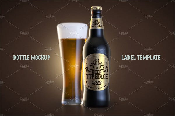 beer bottle craft label
