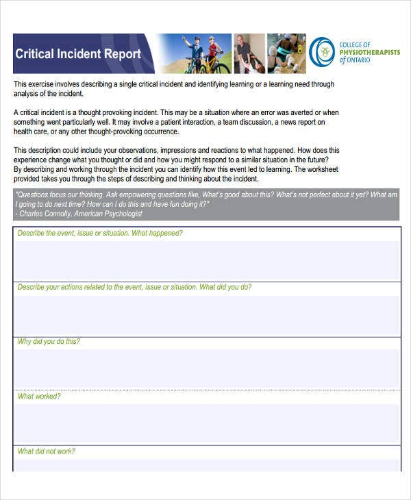 it critical incident report
