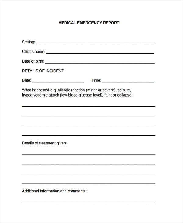 medical emergency incident report2