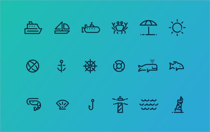 ocean-icons