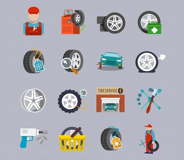 car repair icons1