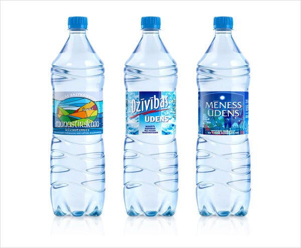 plastic frozen bottle label