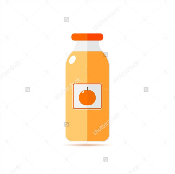 Flat Bottle Sticker Label