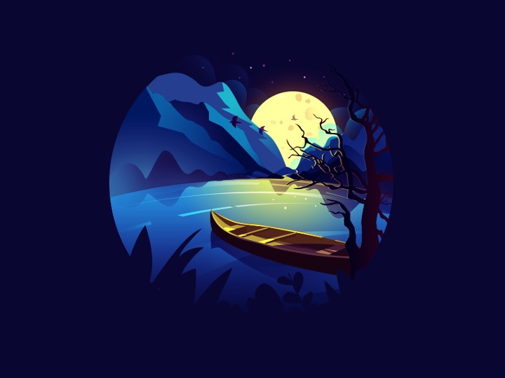 night scenery illustration