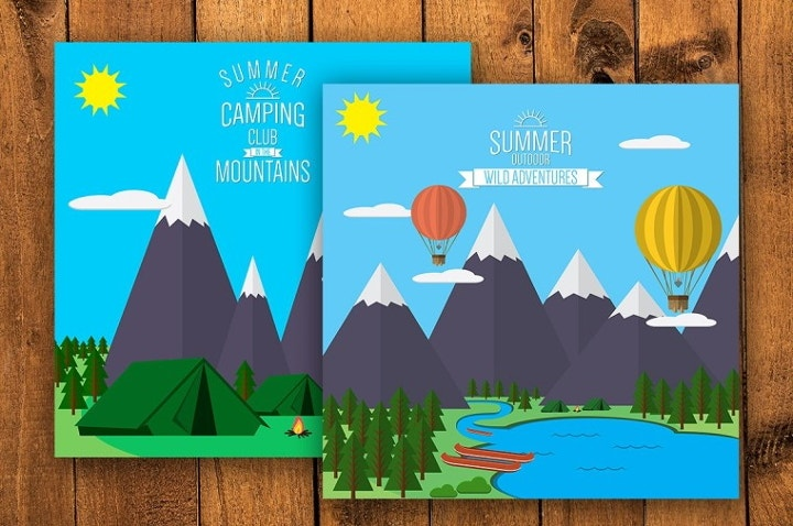 mountain-flat-illustrations