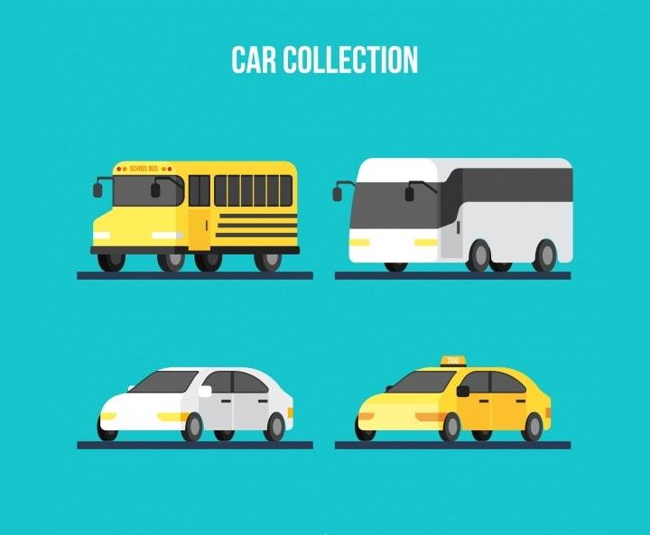 flat automobile vectors1