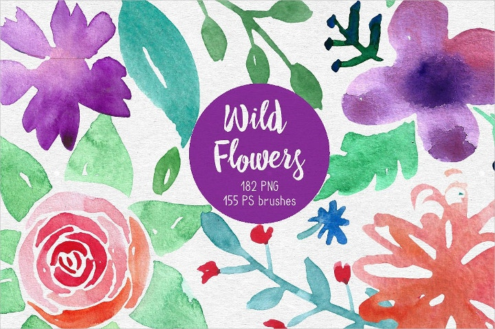 wild flowers photoshop brushes1