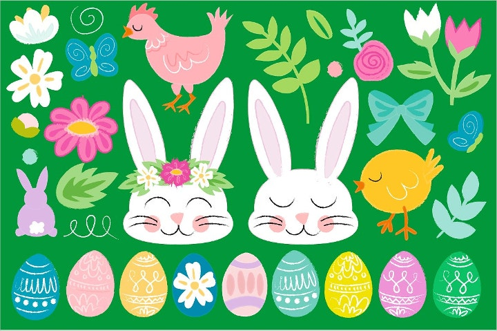 happy easter vectors1