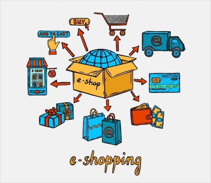 online shopping design vector2