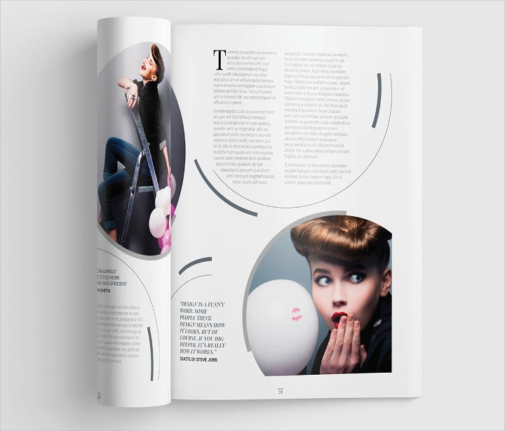 professional magazine layout