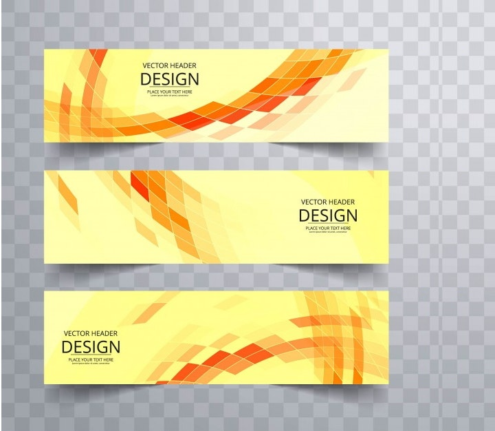 yellow-geometric-banners