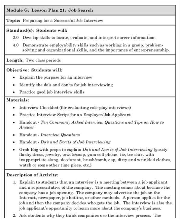 47  lesson plan templates