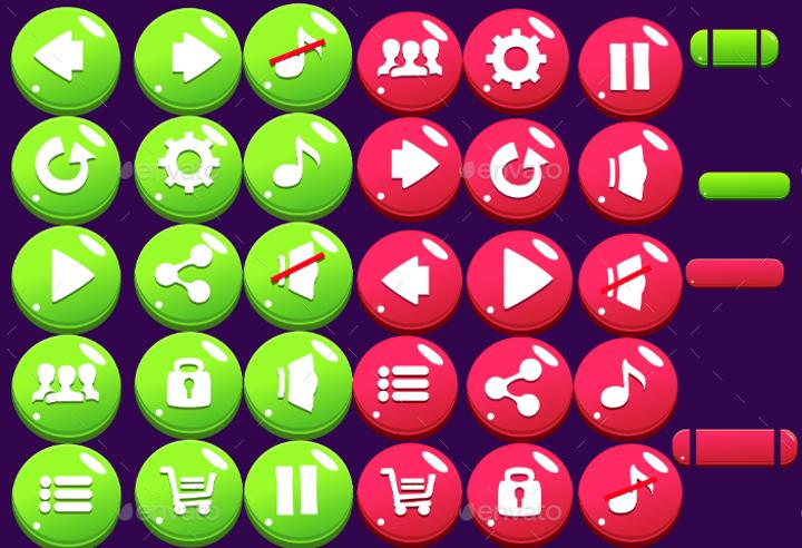 cartoon-game-buttons