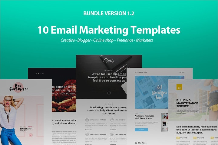email newsletter bundle template