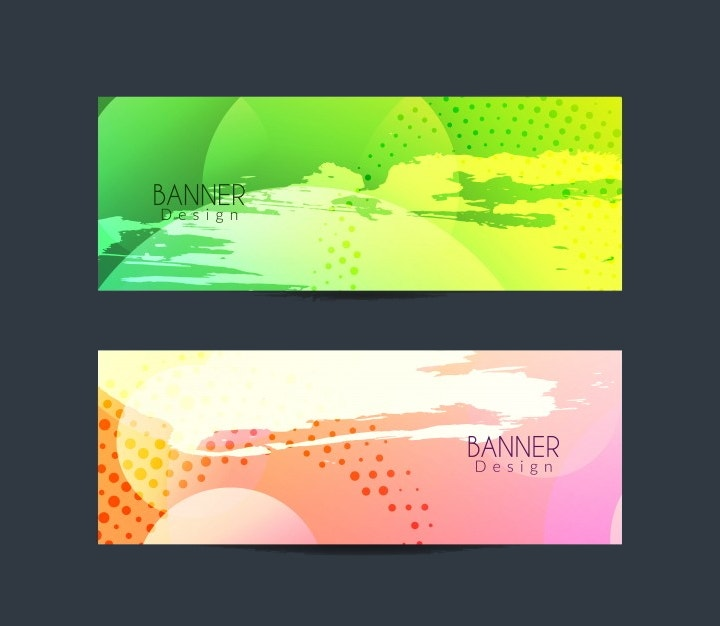 abstract colorful banner design1
