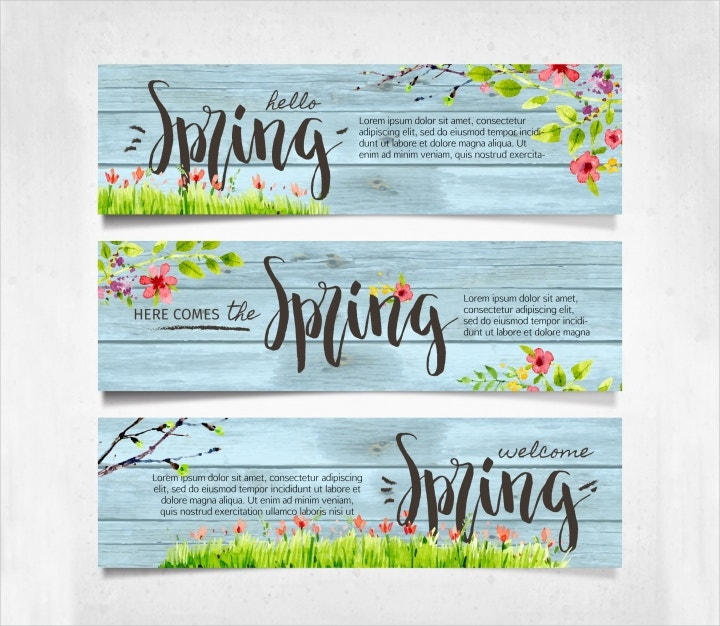 vintage spring banners1
