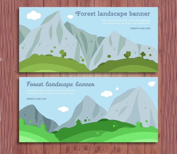landscape banner with mountains1