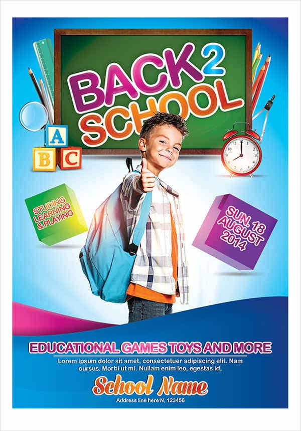 back to school advertising poster1