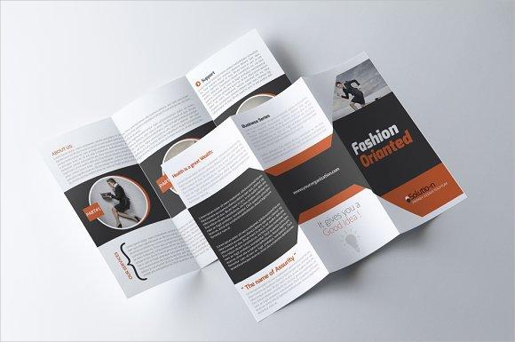 business tri fold development brochure