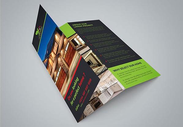 real estate tri fold property brochure