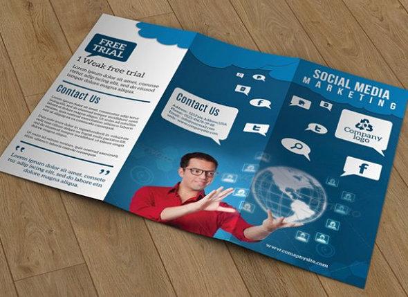 Tri Fold Social Media Marketing Brochure