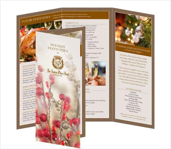 Tri Fold Hotel Marketing Brochure