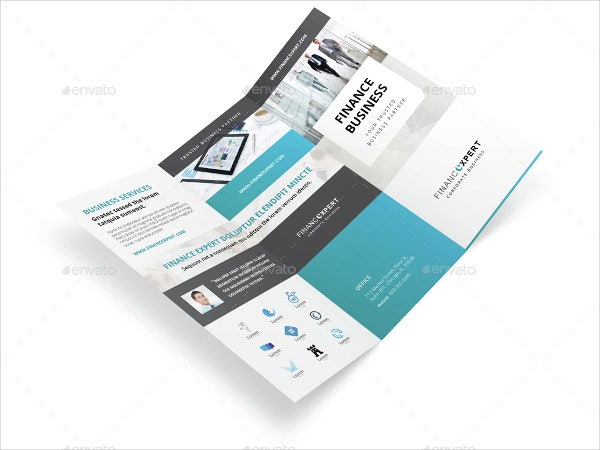 tri fold corporate finance brochure