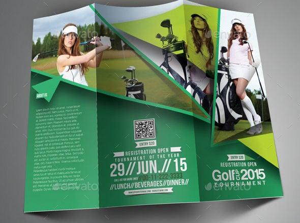 Tri Fold Corporate Golf Brochure