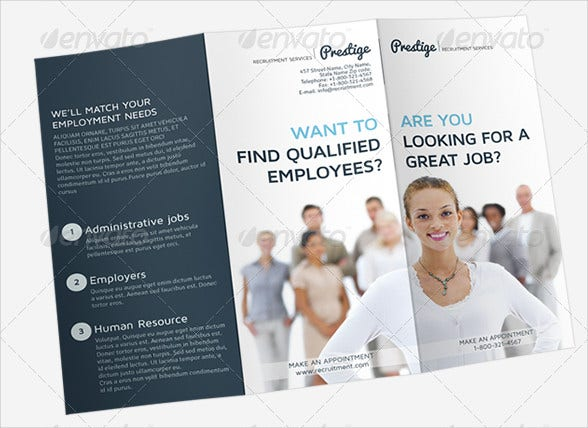 Job Advertising Tri Fold Brochure